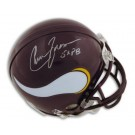 "Chuck Foreman Autographed Minnesota Vikings Mini Football Helmet Inscribed with ""5X PB"""
