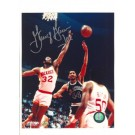 "George ""Ice Man"" Gervin San Antonio Spurs Autographed 8"" x 10"" vs. Houston Rockets Photograph with ""Ice"" Inscription(Unframed)"