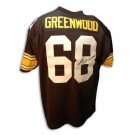 """L.C. Greenwood Autographed Pittsburgh Steelers Throwback Jersey Inscribed with """"4X SB... by"""