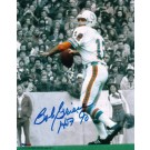 "Bob Griese Autographed ""BW Background"" Miami Dolphins 8"" x 10"" Photo Inscribed ""HOF 90"""