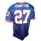 Rodney Hampton New York Giants Autographed Throwback NFL Football Jersey Inscribed... by