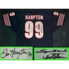 """Dan Hampton Autographed Chicago Bears Throwback Blue Jersey with """"SBXX Champion""""... by"""