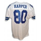 """Alvin Harper Autographed Dallas Cowboys White Throwback Jersey Inscribed with """"Super Bowl Champs 92 93"""""""