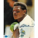 """Rickey Henderson Oakland Athletics Autographed """"Leaning"""" 8"""" x 10"""" Unframed Photograph"""
