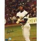 "Rickey Henderson Oakland Athletics Autographed ""Swinging Bat"" 8"" x 10"" Unframed Photograph"