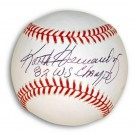 "Keith Hernandez Autographed MLB Baseball Inscribed ""82 WS Champs"""