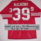 "Hugh McElhenny San Francisco 49ers NFL Autographed Throwback Jersey with ""HOF"" Inscription"