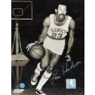 """Lou Hudson Autographed """"Dribbling"""" St. Louis Hawks 8"""" x 10"""" Photo"""
