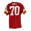 "Sam Huff Autographed Washington Redskins Red Throwback Jersey Inscribed ""HOF 82"""