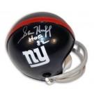 "Sam Huff New York Giants Autographed Throwback Mini Football Helmet Inscribed with ""HOF 82"""