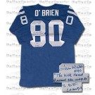 """Jim O'Brien Indianapolis Colts NFL Autographed NFL Throwback Jersey with Inscription """"The Kick Heard Around the World"""""""