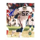 "Pepper Johnson New York Giants Autographed 8"" x 10"" White Jersey Photograph (Unframed)"