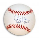 "Cleon Jones Autographed MLB Baseball Inscribed with ""Last Out"""