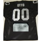 "Jim Otto Oakland Raiders NFL Autographed Throwback Jersey ""HOF"" Inscription"