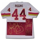 John Riggins Washington Redskins NFL Autographed Throwback Jersey  Inscribed SB XVII MVP