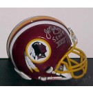 "John Riggins Autographed ""Super Bowl MVP XVII"" Washington Redskins Mini Riddell Helmet"