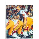 "Billy Kilmer Washinfgton Redskins Autographed 8"" x 10"" Yellow Helmet Photograph with ""#17"" Inscription (Unframed)"