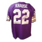 "Paul Krause Autographed Minnesota Vikings Throwback Purple Jersey with ""HOF 98"" Inscription"