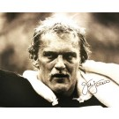 """Jack Lambert Autographed """"BW Close Up with Signature in Black"""" Pittsburgh Steelers 16"""" x 20"""" Photo"""