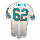 "Jim Langer Autographed Custom Throwback Football Jersey Inscribed with ""HOF 87"" and ""17-0"" (White)"
