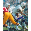 "Jim Langer Autographed Miami Dolphins 8"" x 10"" Photograph Inscribed with ""HOF 87"" (Unframed)"