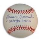 "Dennis Leonard Autographed MLB Baseball Inscribed with ""3X 20 Gm. Winner"""