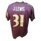 Jamal Lewis Baltimore Ravens Autographed Authentic Reebok NFL Football Jersey (Purple) by