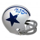 "Bob Lilly Autographed Dallas Cowboys / Houston Texans Throwback Riddell Mini Helmet Inscribed with ""HOF 80"""