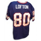 """James Lofton Autographed Buffalo Bills Blue Throwback Jersey Inscribed with """"HOF 03"""""""