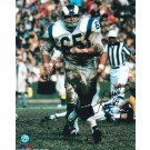 "Tom Mack Los Angeles Rams Autographed 8"" x 10"" Photograph Inscribed with ""HOF 99"" (Unframed)"