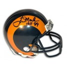 "Tom Mack Los Angeles Rams Autographed Mini Helmet Inscribed ""HOF 99"""