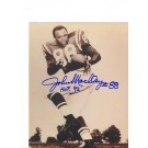 "John Mackey Baltimore Colts Autographed 8"" x 10"" Photograph Inscribed with ""HOF 92"" (Unframed)"