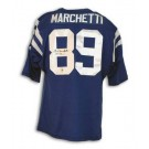 "Gino Marchetti Autographed Baltimore Colts Blue Throwback Jersey Inscribed ""HOF 72"""