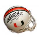 Willis McGahee Autographed Miami Hurricanes Riddell Mini Helmet