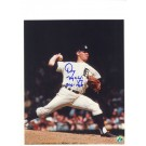 "Denny McLain Autographed Detroit Tigers 8"" x 10"" Photograph of Him Pitching Inscribed with ""31-6 1968"" (Unframed)"