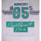 "Nick Buoniconti Miami Dolphins NFL Autographed Throwback Jersey with ""17-0"" Inscription"