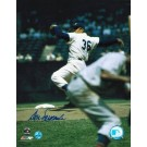 "Don Newcombe Autographed ""Pitching"" Brooklyn Dodgers 8"" x 10"" Photo"