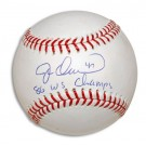 "Jesse Orosco Autographed Baseball Inscribed with ""86 WS Champs"""