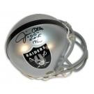 """Jim Otto Oakland Raiders Autographed Mini Helmet Inscribed """"HOF 00"""""""