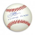 "Jim Palmer Autographed MLB Baseball Inscribed with ""WS Champs 66, 70, 83"""
