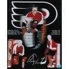 "Bernie Parent Philadelphia Flyers Autographed 8"" x 10"" Photograph Collage (Unframed)"