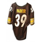 """Willie Parker Autographed Pittsburgh Steelers Jersey Inscribed with """"SB Record 75 YD... by"""