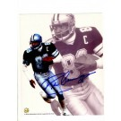 "Drew Pearson Dual Image Autographed 8"" x 10"" Photograph (Unframed)"