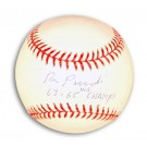"Ron Perranoski Autographed Baseball Inscribed with ""63-65 WS Champs"""