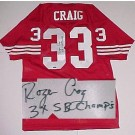 Roger Craig San Francisco 49ers NFL Autographed Throwback Jersey