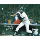 """Mickey Rivers New York Yankees Autographed 8"""" x 10"""" Photograph Inscribed with """"77+78 WS Champs"""" (Unframed)"""