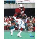 "Mike Rozier Autographed Nebraska 8"" x 10"" Photo Inscribed ""Heisman 1983"""