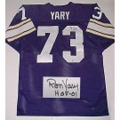 "Ron Yary Minnesota Vikings NFL Autographed Throwback Jersey with ""HOF '01"" Inscription"