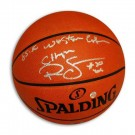 "Ralph Sampson Autographed Official NBA Basketball  Inscribed ""1985-86 Western Conf Champs"""