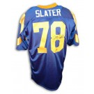 "Jackie Slater Los Angeles Rams Autographed Throwback NFL Football Jersey Inscribed ""HOF 01"" (Blue)"
